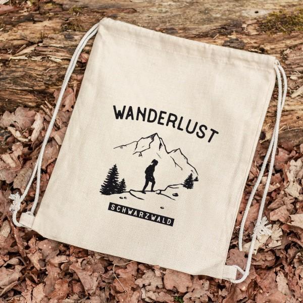Turnbeutel Sportbeutel Rucksack Outdoor Wald Berge wandern Wanderin