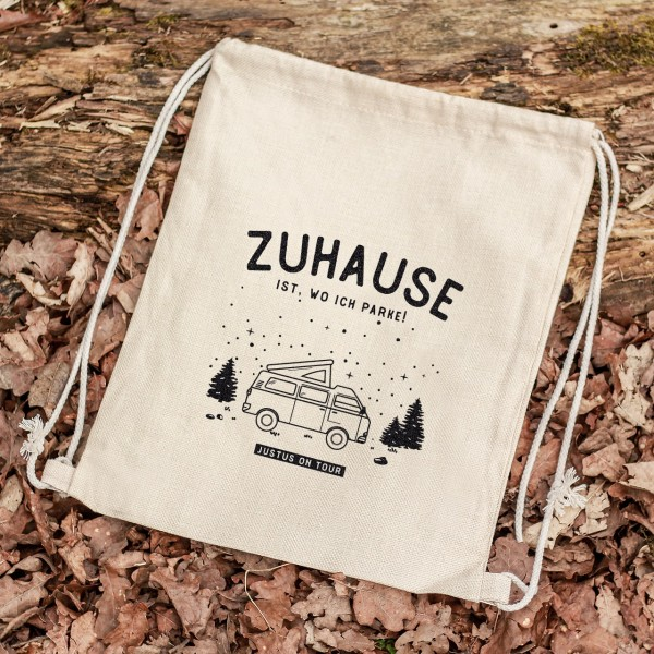 Turnbeutel Sportbeutel Rucksack Outdoor Berge Roadtrip Camping Urlaub Caravan