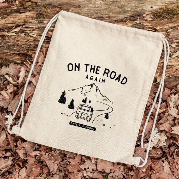Turnbeutel Sportbeutel Rucksack Outdoor Berge Roadtrip Camping Urlaub