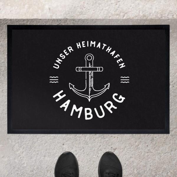 Fußmatte mit Motiv Anker und Namen personalisiert