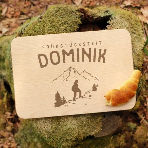 Brettchen Schneidebrett Outdoor Wandern Wanderer mit Namen personalisiert