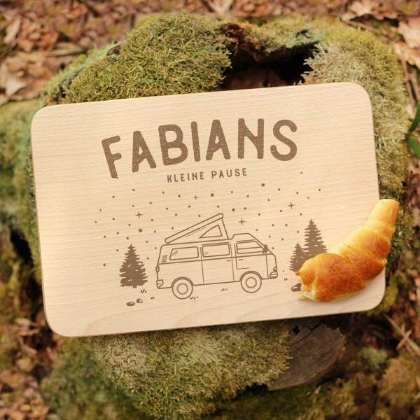 Brettchen Schneidebrett Outdoor Caravan Camping Sternenhimmel mit Namen personalisiert