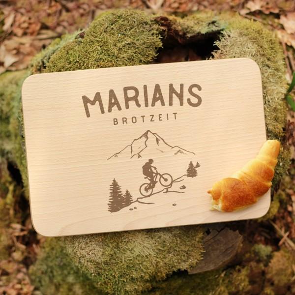 Brettchen Schneidebrett Outdoor MTB Biker Fahrradfahrer mit Namen personalisiert